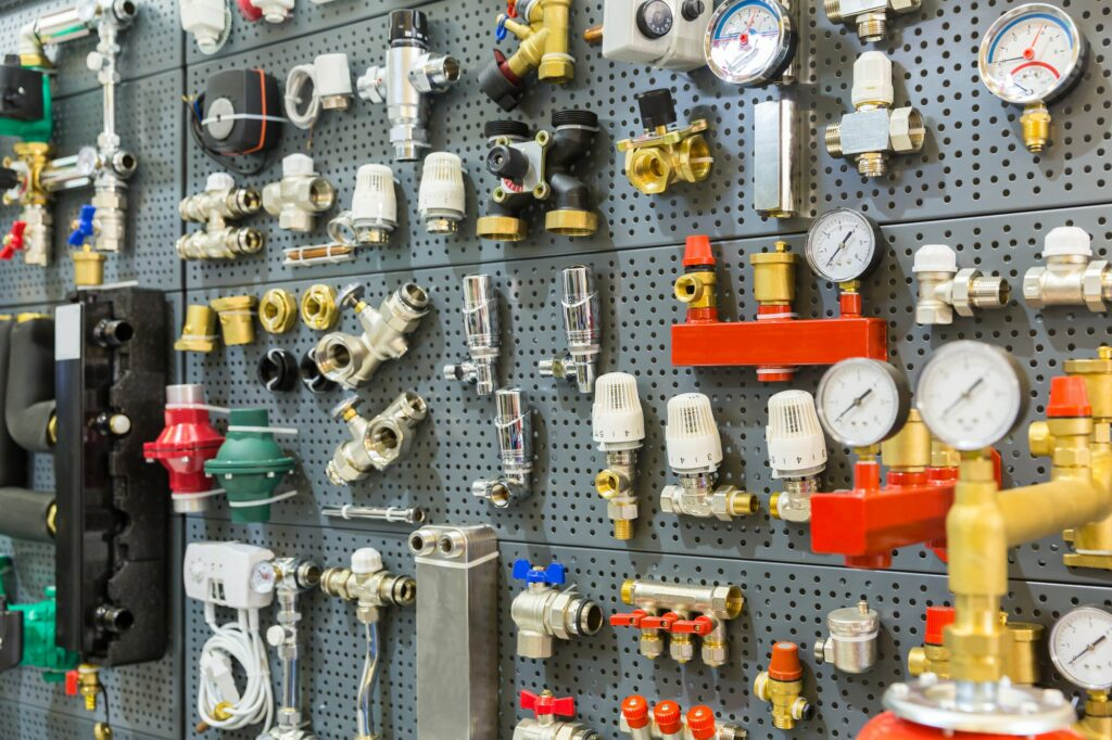 Plumbing equipment pressure sensors and thermostat